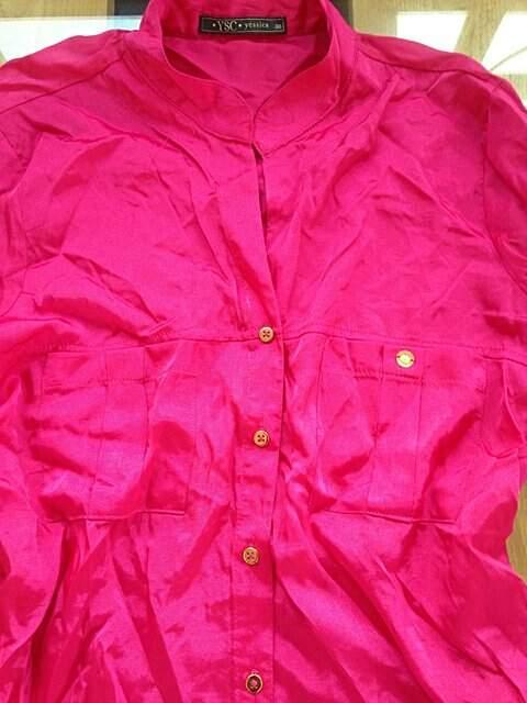 Camisa Pink de Cetim _