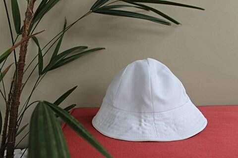 Chapéu de Bebê Branco_foto de frente