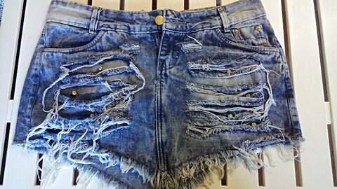 Saia jeans Destroyed_