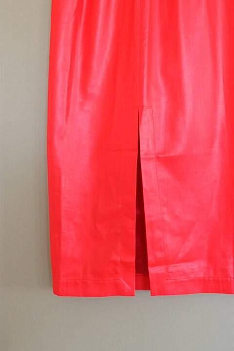 Vestido Vermelho Neon Paul & Joe Paris - TAM 40._foto de detalhe