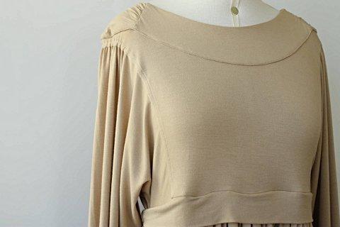 Vestido Modal Bege Juliana Jabour - TAM 40_foto de detalhe