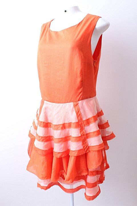 Vestido Aurea Prates Coral - TAM P._foto de frente