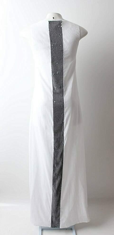Vestido Auá Longo Branco - TAM 38_foto de costas