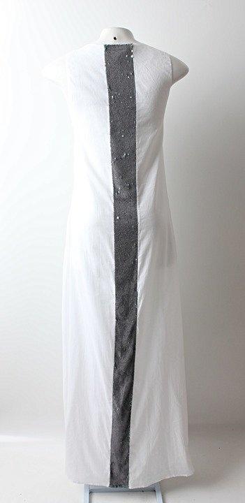 Vestido Auá Longo Branco - TAM 42_foto de costas