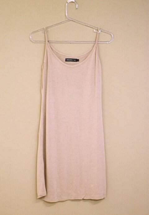Vestido Camiseta Juliana Jabour Bege - TAM 38._