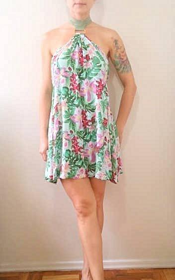 Vestido Floral Frente-Única_foto da etiqueta