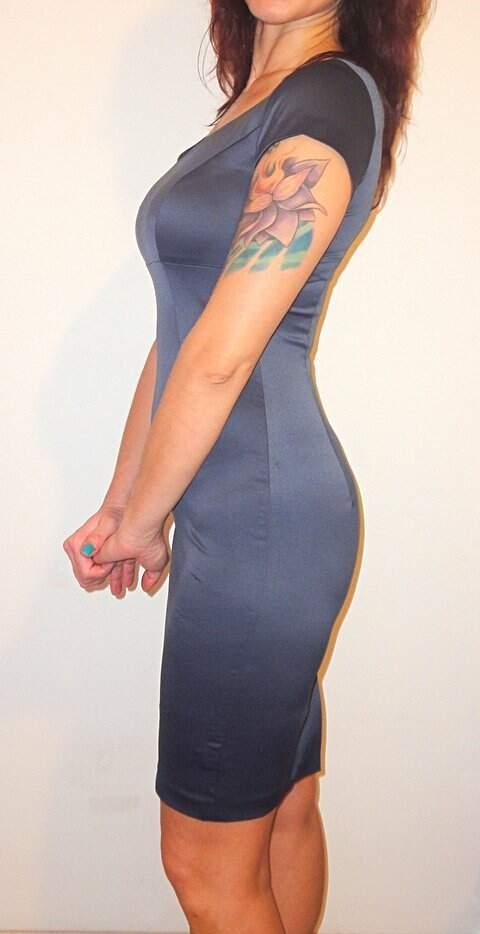 Vestido Tubinho de Cetim_