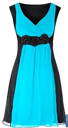 Vestido Azul Turquesa_foto de frente